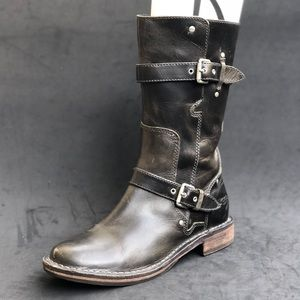 UGG leather motor boots